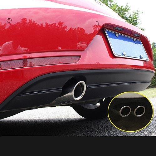Stainless Steel Car Exhaust Tip Muffler Tips Cat-back System Fit for Volkswagen Beetle 2012 2013 2014 2015 2016 2017 2018