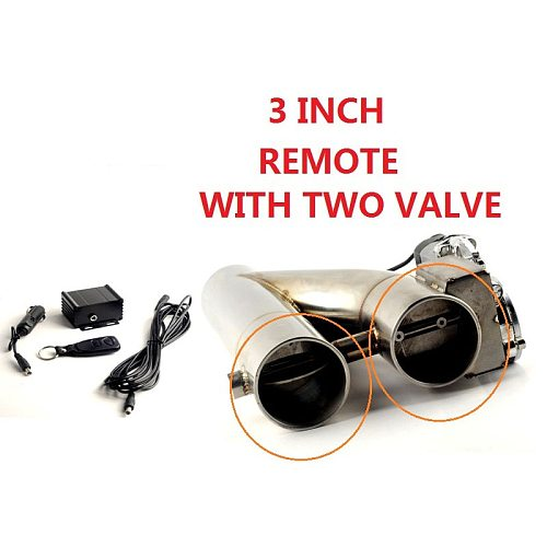 Universal  2 /2.5''/3  Double Valve Electric Exhaust Cut Out Valve Exhaust Pipe Muffler Kit with Wireless Remote Control