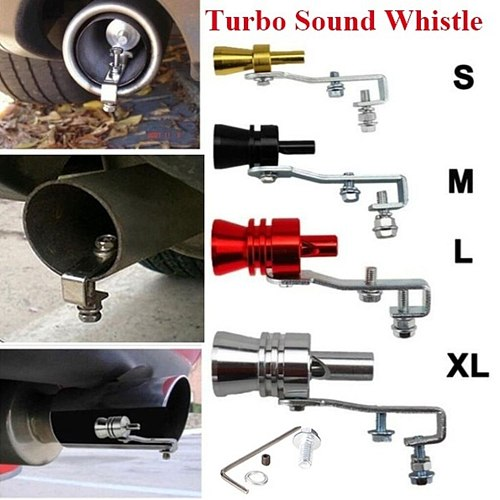 Universal Simulator Whistler Exhaust Turbo Whistle Pipe Sound Muffler Blow Off Valve Car Decoration