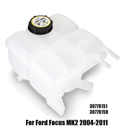 Car Radiator Coolant Expansion Tank W/Cap 30776151 30776150 For Ford for Focus MK2 2004-2011