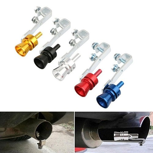 Universal Simulator Whistler Exhaust Fake Turbo Whistle Pipe Sound Muffler Blow Off Car Styling Tunning S/M/L/XL