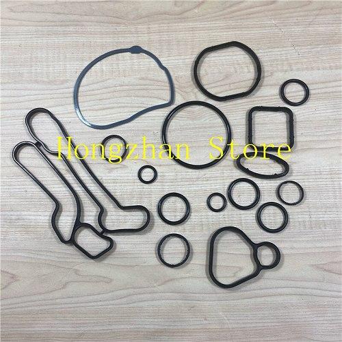 16pcs/set Oil radiator repair kit cooling Gasket Seals for Chevrolet- Cruze orlando Sonic trax croma Astra Zafira 2724577