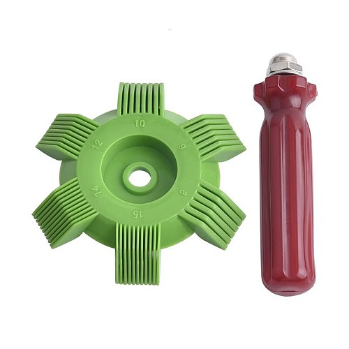evil energy Universal Car A/C Radiator Condenser Coil Comb Straightener Comb Rake Cleaner Tool For Auto Cooling System Tool