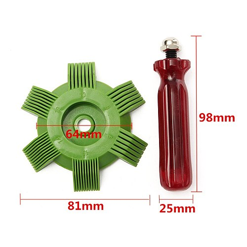Universal Car A/C Radiator Condenser Fin Comb Air Conditioner Coil Straightener Cleaning Tool Auto Cooling System Repair Tools