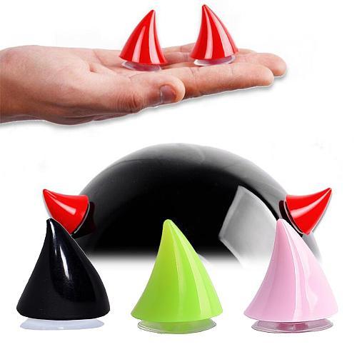 Motorcycle Helmet Corner Plastic Rubber Horn Decoration Accessories Soft Horns Decoration Headwear Retrofit Accessories