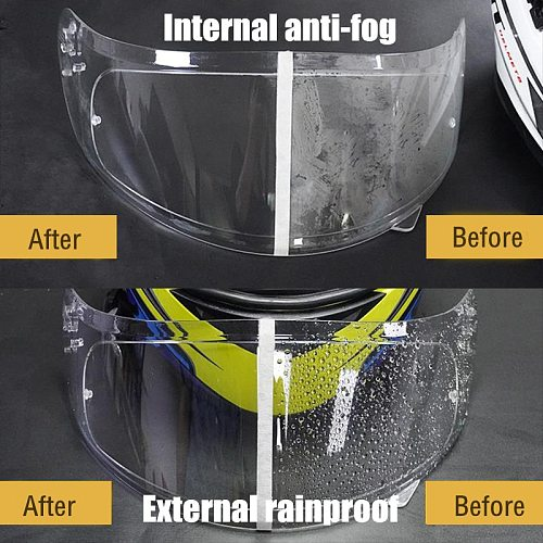 Universal Anti-fog Rainproof patch Lens Clear Visor Sticker Helmet Film for Motorcycle Helmets Motocross Accessories