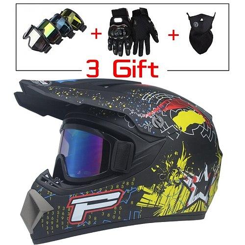 New Style Motorcycle Racing Helmet Off-road Full Face Motorcycle Helmet Dirt Bike Atv Helmet Downhill Mountain Helmet Casco Moto