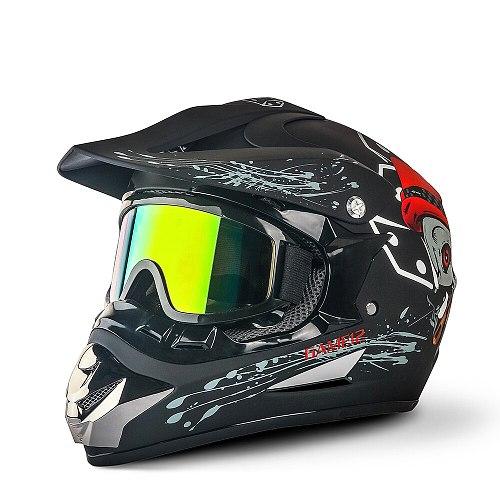 2019 Professional Racing Motocross Casque hors route Casque Moto Capacete Moto Casco Off-road Cartoon Children Motorcycle Helmet
