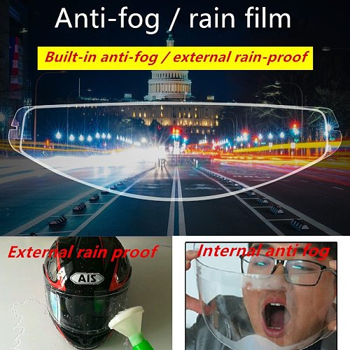 AEP Universal Type Motorcycle Helmet Anti-rain Anti-fog Film Electric Car Half-helmet Anti-fog Lens Patch