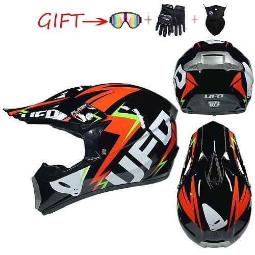 Professional Racing Motocross Casque Hors Route Casque Moto Capacete Casco Off-Road Cartoon Children Motorcycle Helmet