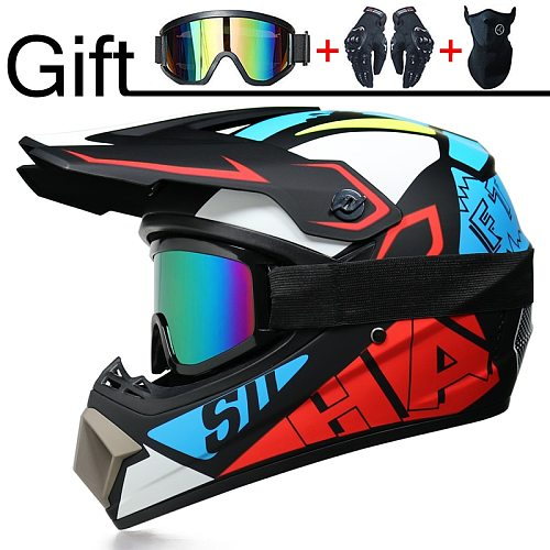 Professional Motorcycle Helmet Off-road Helmet Downhill DOT Racing Motocross Casque Moto Helme3 Free Gift Suitable For Kid
