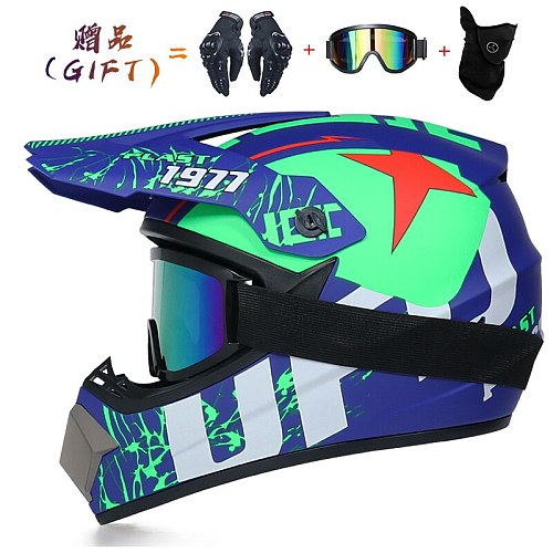 3 Gifts Motorcycle Helmet Children Adult Off-road Helmet Bike Downhill AM DH Cross Helm Capacete Motocross Casco Moto S-XL