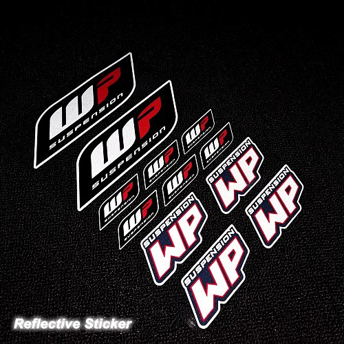 Reflective WP Sticker Shocker Damper Decal For Duke KTM 200/390/690/990/1090/1190/1290 12PCS/SET