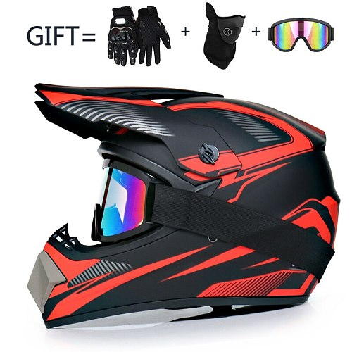 3 Gifts Motorcycle Children Off-Road Bike Downhill AM DH Racing Motocross Men Helmet DOT Capacete Casco