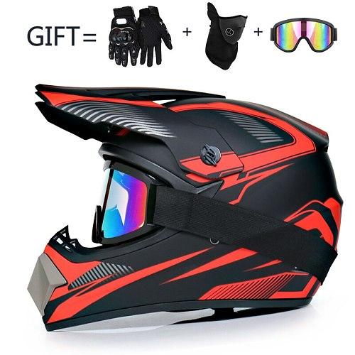 3 Gifts Motorcycle Children Off-Road Bike Downhill AM DH Racing Motocross Men Helmet DOT Capacete Casco