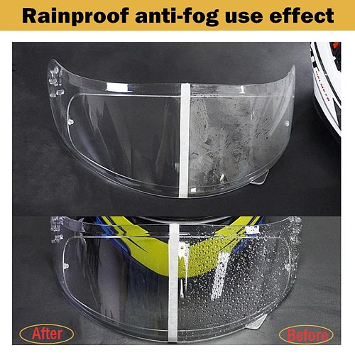 Helmet Clear Anti-Fog patch Film Universal Motorcycle Helmet Lens Fog Resistant Visor Films for K3 K4 AX8 LS2 HJC MT Helmets