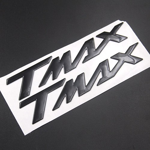 Motorcycle Emblem Badge Decal 3D Tank Wheel Logo  TMAX  Sticker For YAMAHA TMAX530 500 Silver Black Red Blue Gold