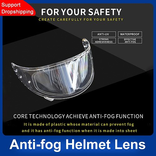 Anti-fog Patch Visor Lens Helmet Lens Anti-fog Film Universal Clear Visor Lens Sticker Motorcycle Accessories Generic