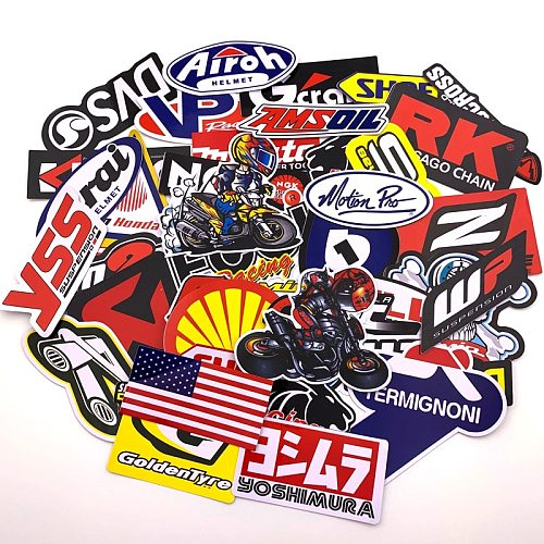 1 bag Moto  accessory stickers For Toy Luggage Skateboard Phone On Laptop Moto Bicycle Wall Guitar Stickers