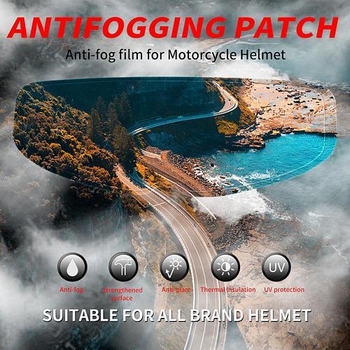 Universal Anti-fog Patch Visor Lens for Motorcycle Full Open Face Helmet Lens Anti-fog Film Motorcross Moto Lens Antifog Film