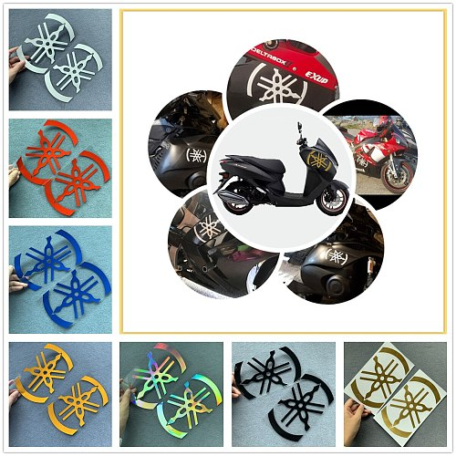 1 Pair DIY Modified Reflective Laser Rainbow Moto Motorcycle Sticker Modification Decoration for Two Motor Side