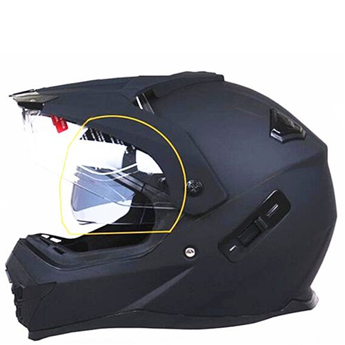 Motorcycle Helmet With Sun Shield Atv Road Cross Motocross Helmet Double Lens Off Road Racing Moto Helmets