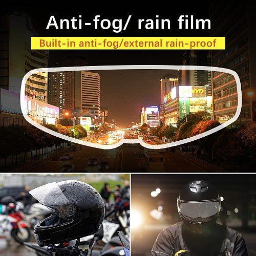 Motorcycle Full Face Helmet Clear Anti-fog Patch Generic Moto Helmets Lens Anti-fog Visor Safer Driving Moto Parts New 2020