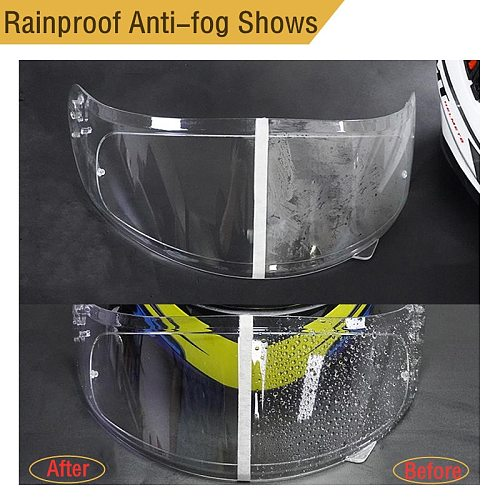 Helmet Clear Anti-Fog Rainproof Patch Film Universal Motorcycle Helmet Lens Fog Resistant Films for K3 K4 AX8 LS2 HJC MT Helmets