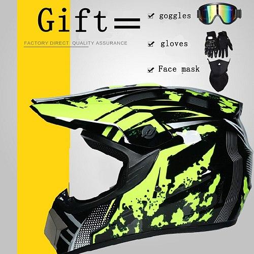 NEW Promotion Helmet Motorcycle off-road Helmet Motocross Racing Helmet Downhill Mountain Helmet Racing Moto Helmet DOT