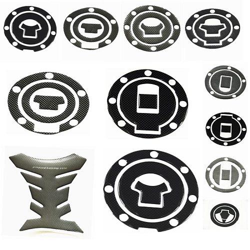 1Pcs Carbon Fiber Fuel Gas Oil Cap Tank Pad Tankpad Protector Sticker For Motorcycle Universal For Honda Suzuki Kawasaki Yamaha