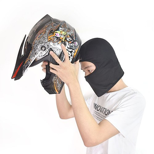 WOSAWE Breathable Mesh Mens Motorcycle Helmet Inner Caps Anti-Sweat Mask Hat Motocross Riding Ski Under Helmet Lining Cap