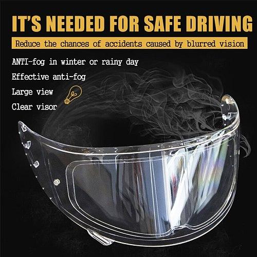 Helmet Clear Anti-Fog Rainproof Patch Film Universal Motorcycle Helmet Lens Fog Resistant Films for K3 K4 AX8 LS2 HJC MT Helmets