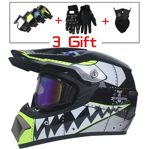 New Style Motorcycle Racing Helmet Off-road Full Face Motorcycle Helmet Dirt Bike Atv Helmet Downhill Mountain Helmet Casco Moto