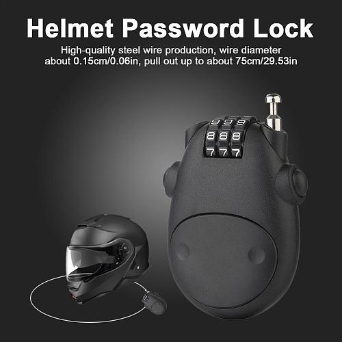 Telescopic Wire Rope Steel Cable Code Lock Anti-theft Safety Lock Bicycle Suitcase Luggage Lock Motorcycle Helmet Password Lock