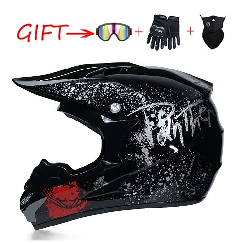 Motorcycle Adult Motocross Off Road Helmet ATV Dirt Bike Downhill MTB DH Racing Helmet Cross Helmet Capacetes With 3 Free Gifts