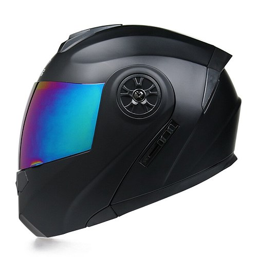 Motorcycle Helmet Racing Modular Dual Lens Motocross Moto Helmet Full Face Helmets Flip Up Casco Moto Capacete Casque S-XL