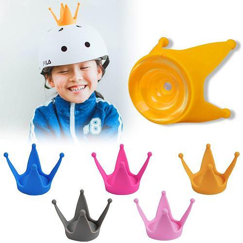 Universal Motorcycle Helmet Horns Decor Soft Plastic Motorbike Helmet Crown 1Pcs Helmet Decoration Headwear Sucker
