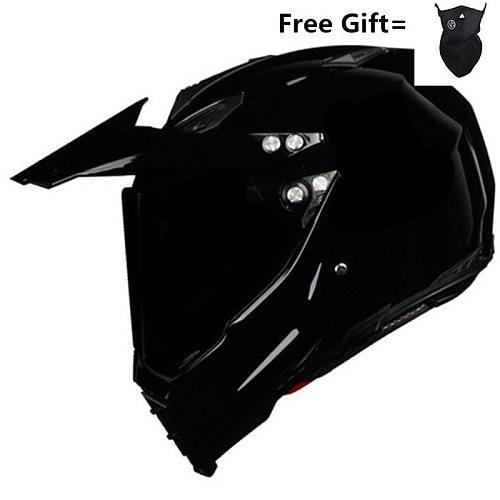 HOT SELL Gloss black Helmet Motorcycle Racing Bicycle Helmet  ATV Dirt bike Downhill MTB DH cross Helmet capacetes S M L XL XXL