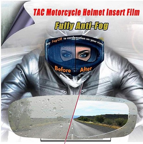 Helmet Clear  Anti-Fog patch film Universal Motorcycle Helmet Lens Fog Resistant Films for K3 K4 AX8 MT Helmets