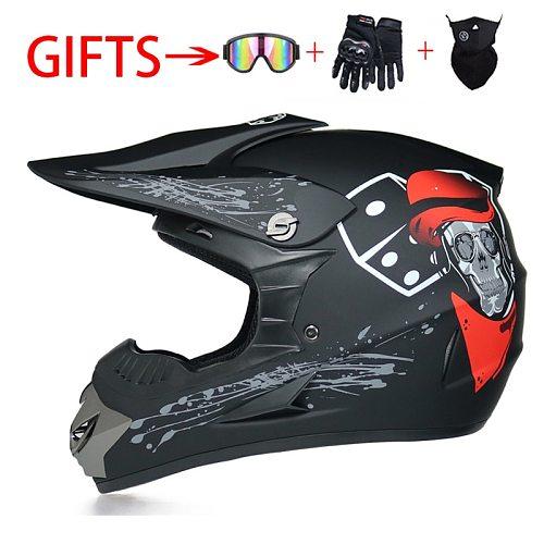 Graffiti Cartoon Racing Off-Road Motorcycle Motocross Motorbike Men Women Helmet Moto Vintage Casco Four Seasons