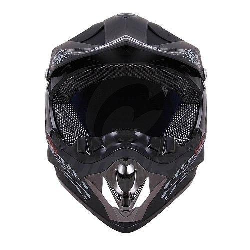OUMURS DOT Motorcycle Helmet Skull Style Adult Motocross Off Road ATV Dirt Bike Racing Outdoor Motorbike Protective Helmets Men