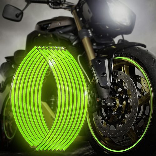 12  14  18  Motorcycle Sticker Moto Strips Reflective Wheel Rim For Motorbike Scooter