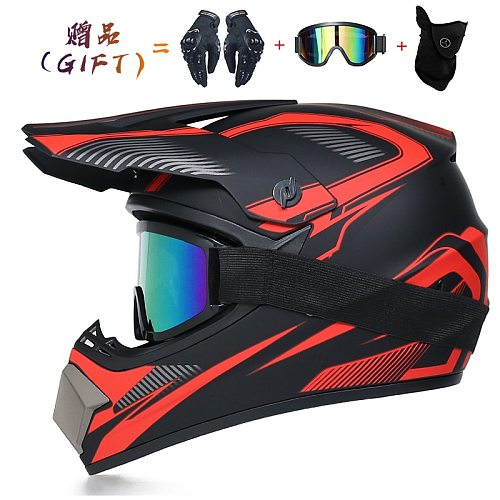 3 Gifts Motorcycle Helmet Children Adult Off-road Helmet Bike Downhill AM DH Cross Helm Capacete Motocross Casco Moto S-XL