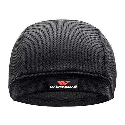 WOSAWE Breathable Mesh Mens Motorcycle Helmet Inner Caps Anti-Sweat Hat Thin Motocross Racing Ski Under Helmet Lining Caps