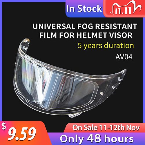 Helmet Clear Lens Anti-Fog Patch Film Motorcycle Antifog Lens Patch Visor Lens Sticker Motorbike Helmet Accessories