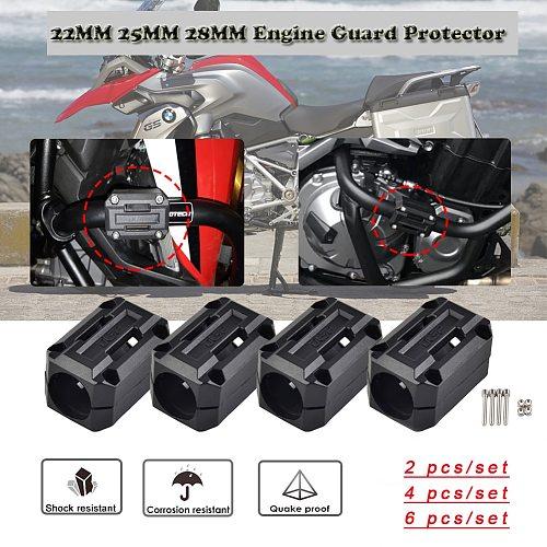 Motorcycle 25mm Engine Guard Bumper Block Protector Crash Bar for BMW R1200GS LC ADV HONDA CRF1000L Kawasaki Versys 650 KTM 1290