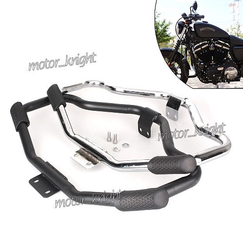 Motorcycle Mustache Highway Engine Guard Crash Bar For Harley HD Sportster Forty Eight XL 1200 883 04-18 ron 883 09-18 48 XL
