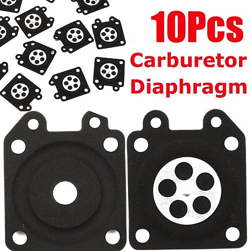 10x Rubber Chainsaw Carburetor Metering Diaphragm Gaskets For Walbro 95-526-9-8