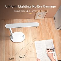 Stepless Dimmable Desk Reading Light Foldable Rotatable Touch Switch LED Table Lamp USB Charger RechargeableBattery  Night Lamp