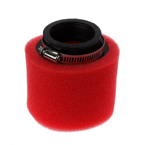 Motorcycle Double Sponge Air Filter Cleaner Straight Neck 35 / 38 / 40 / 42 / 45 / 48mm